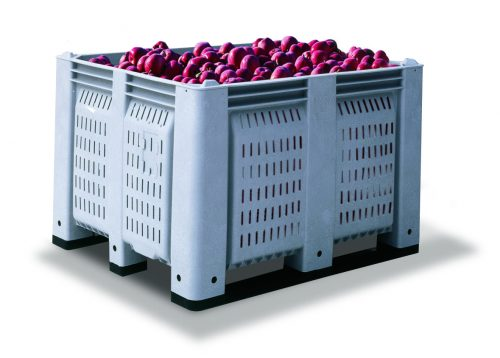 Decade agriculture plastic harvesting and storage bin
