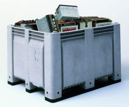 Decade industrial plastic storage bin